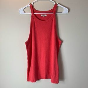 Madewell Bright Coral Orange Basic Muscle Tank